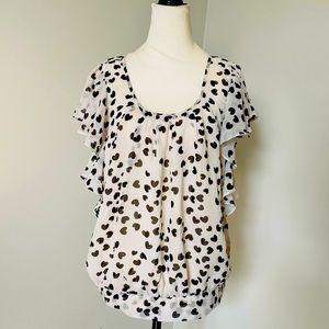 Daniel Rainn Heart print blouse